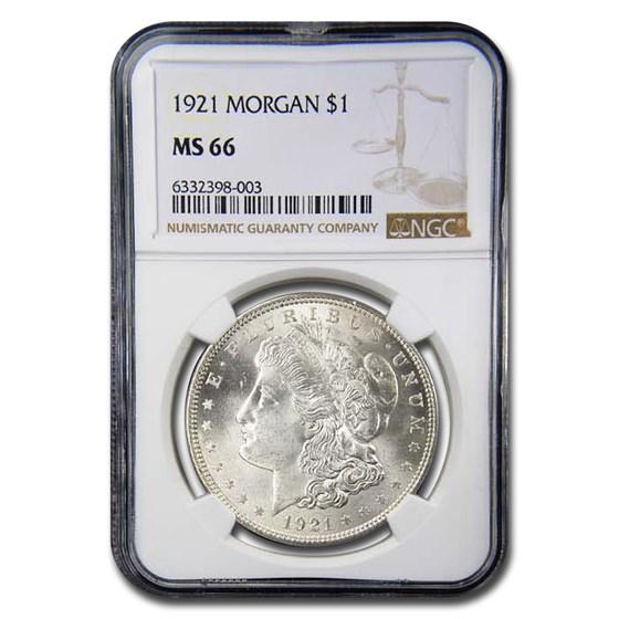 1921 Morgan Dollar MS-66 NGC