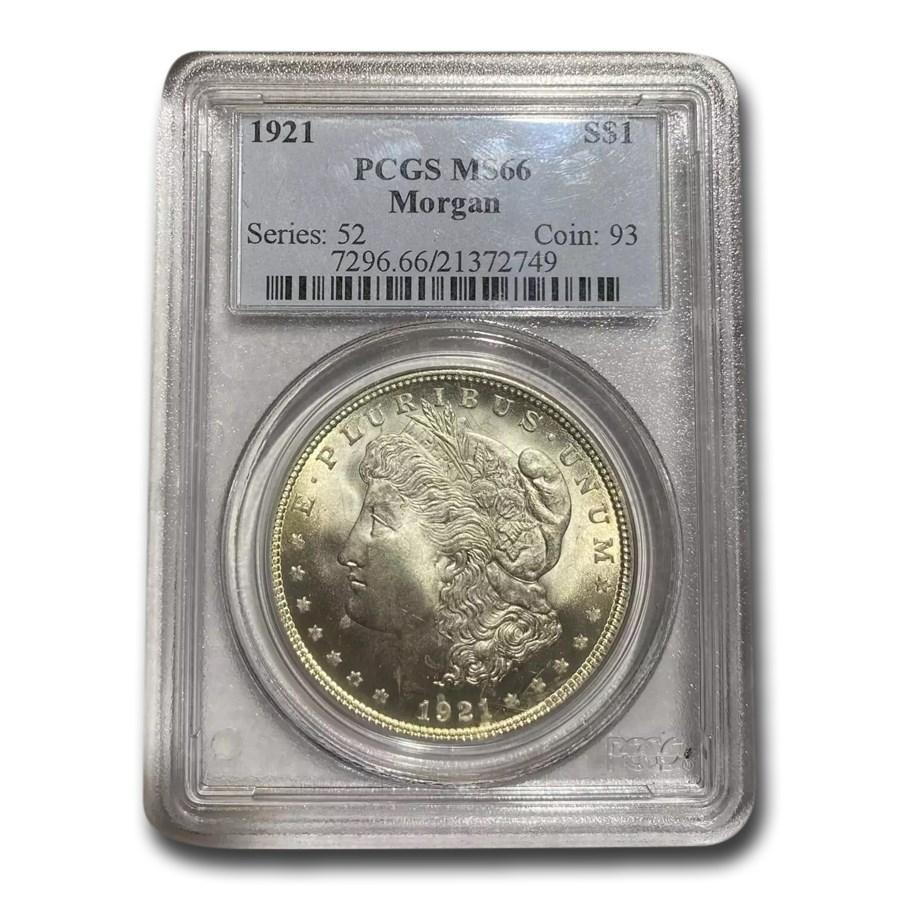 1921 Morgan Dollar MS-66+ PCGS (Plus)