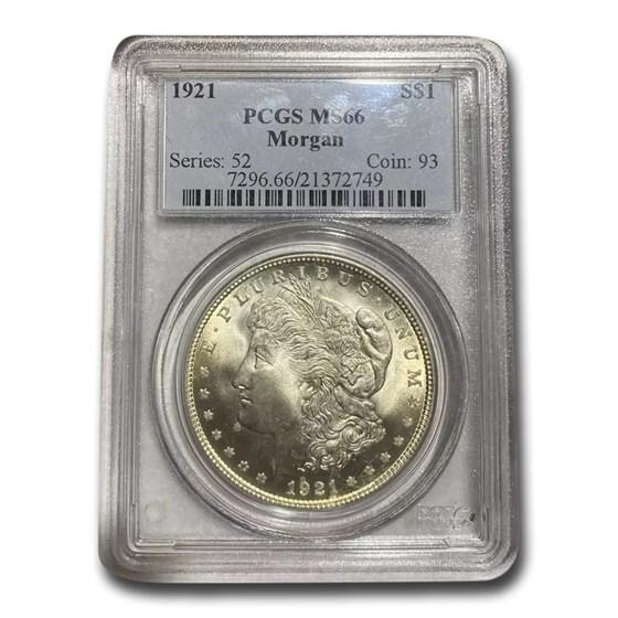 1921 Morgan Dollar MS-66+ PCGS