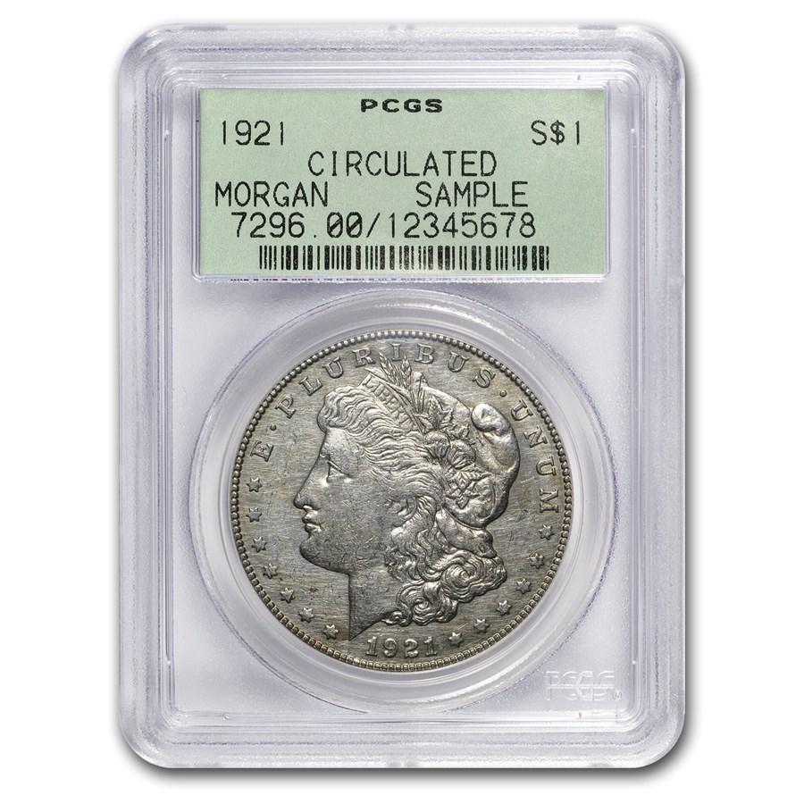 1921 Morgan Dollar PCGS (Circulated Rare Sample Slab)