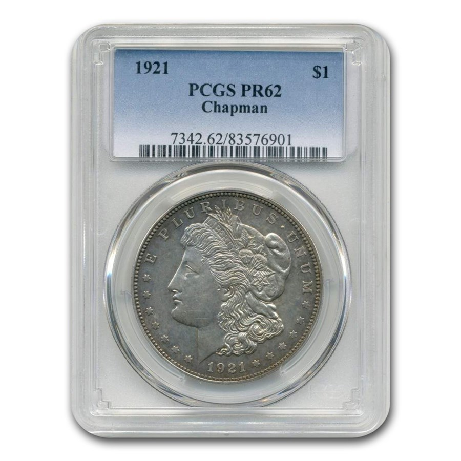 1921 Morgan Dollar PR-62 PCGS