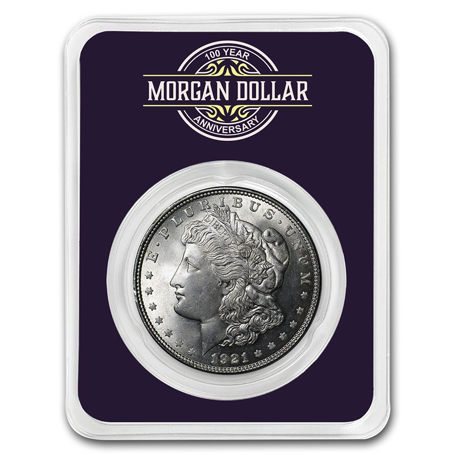 1921 Morgan Silver Dollar 100th Anniversary BU - 1921-2021
