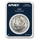 1921 Morgan Silver Dollar APMEX Card AU