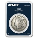 1921 Morgan Silver Dollar APMEX Card VG-XF