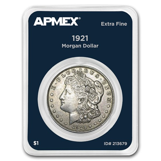 1921 Morgan Silver Dollar APMEX Card VG-XF