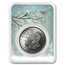 1921 Morgan Silver Dollar Snowy Birds Card BU