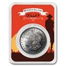 1921 Morgan Silver Dollar Sunset Rider Card BU