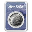 1921 Morgan Silver Dollar Winter Scene Card BU