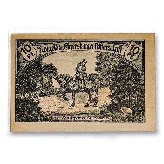 1921 Notgeld Elgersburger Ritterschaft 10 Pfennig AU (Lt Green)