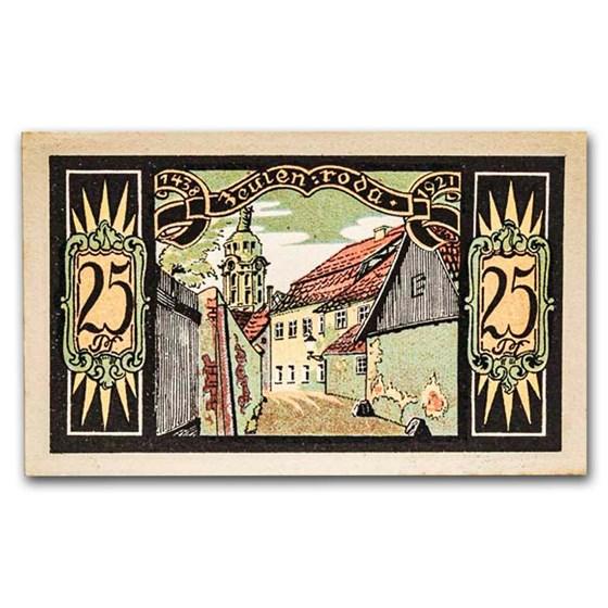 1921 Notgeld Zeulenroda 25 Pfennig CU (Multi)