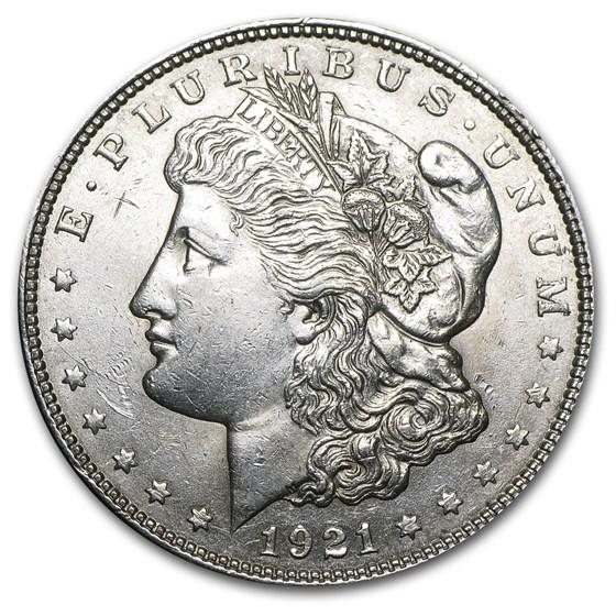 1921 P, D, or S Mint Morgan Silver Dollar AU (Random)