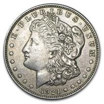 1921 P, D, or S Mint Morgan Silver Dollars VG-XF (Random)