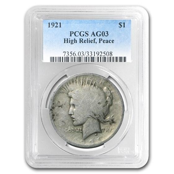 1921 Peace Dollar AG-3 PCGS (Low Ball Registry)