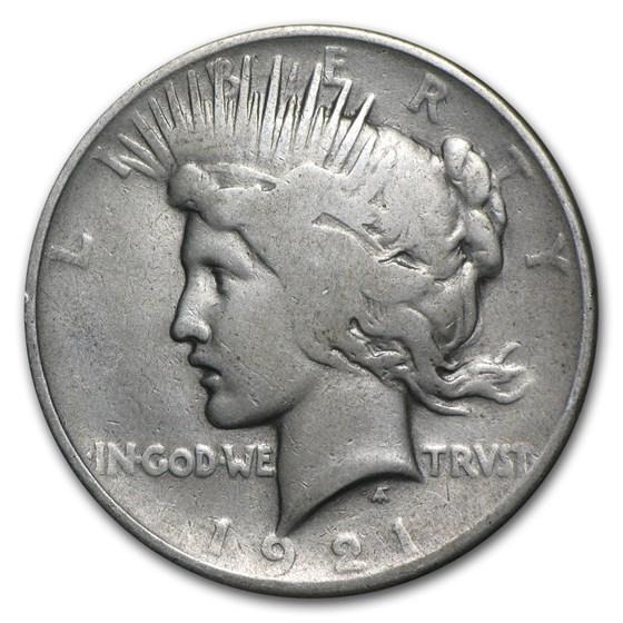 1921 Peace Dollar AG (High Relief)