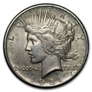 1921 Peace Dollar AU Details (High Relief, Damaged)