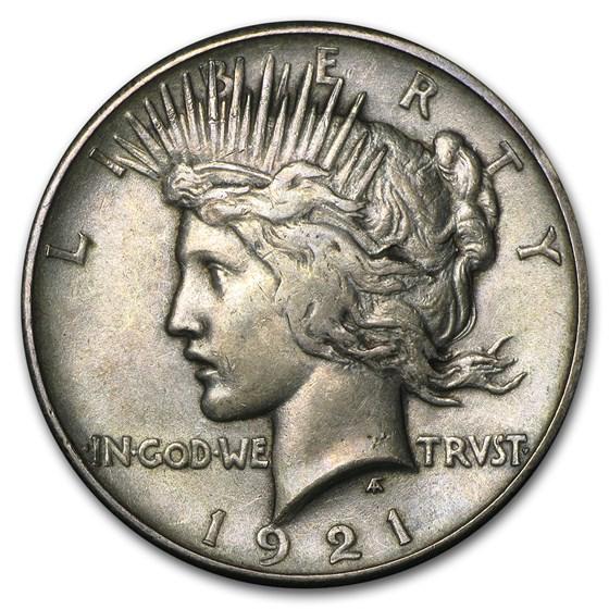 1921 Peace Dollar AU (High Relief)