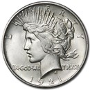 1921 Peace Dollar BU Details (High Relief, Cleaned)