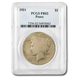 1921 Peace Dollar Fair-2 PCGS (Low Ball Registry)