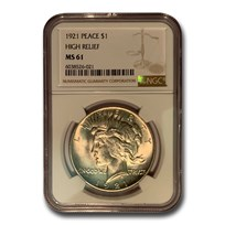 1921 Peace Dollar MS-61 NGC