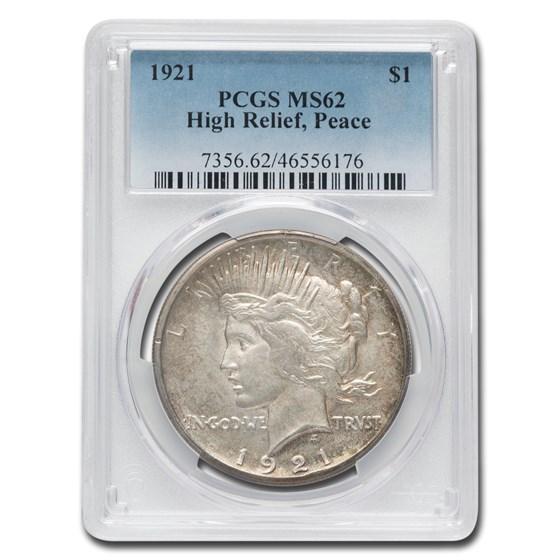 1921 Peace Dollar MS-62 PCGS