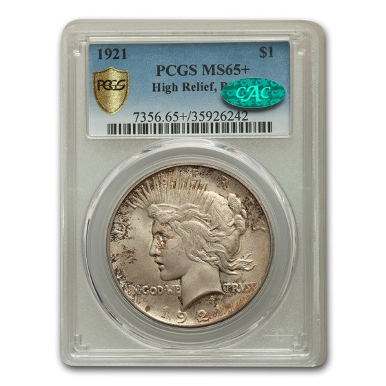 1921 Peace Dollar MS-65+ PCGS CAC