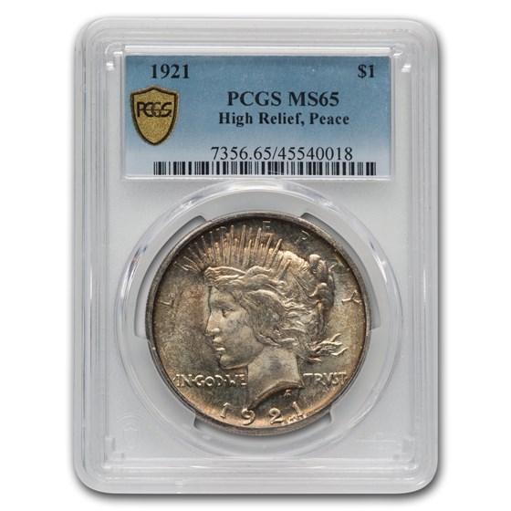 1921 Peace Dollar MS-65 PCGS