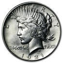 1921 Peace Dollar Unc Details (High Relief, Cleaned)
