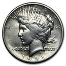 1921 Peace Dollar VG/VF Details (High Relief, Cleaned)