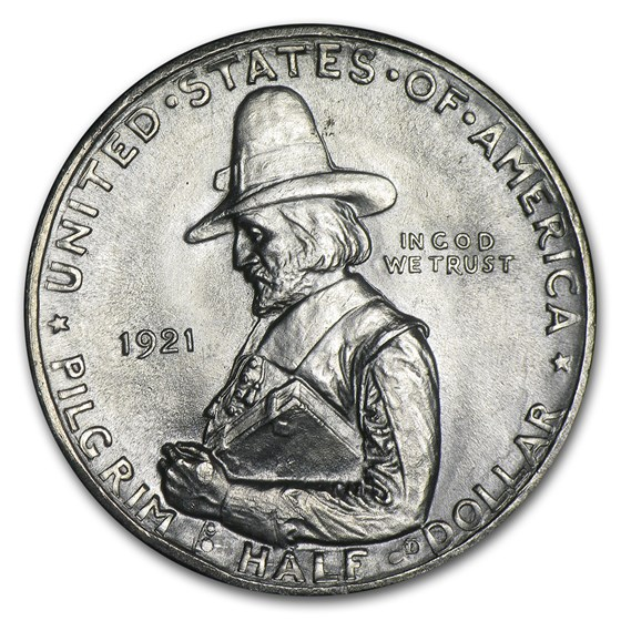 1921 Pilgrim Tercentenary Commemorative Half Dollar BU