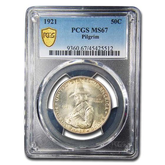 1921 Pilgrim Tercentenary Half Dollar Commem MS-67 PCGS