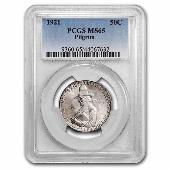 1921 Pilgrim Tercentenary Half Dollar MS-65 PCGS
