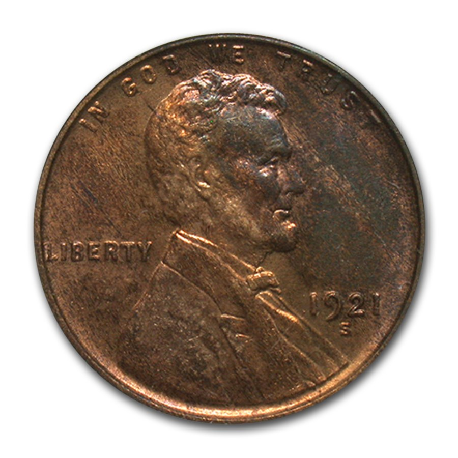 1921-S Lincoln Cent MS-63 PCGS (Brown)