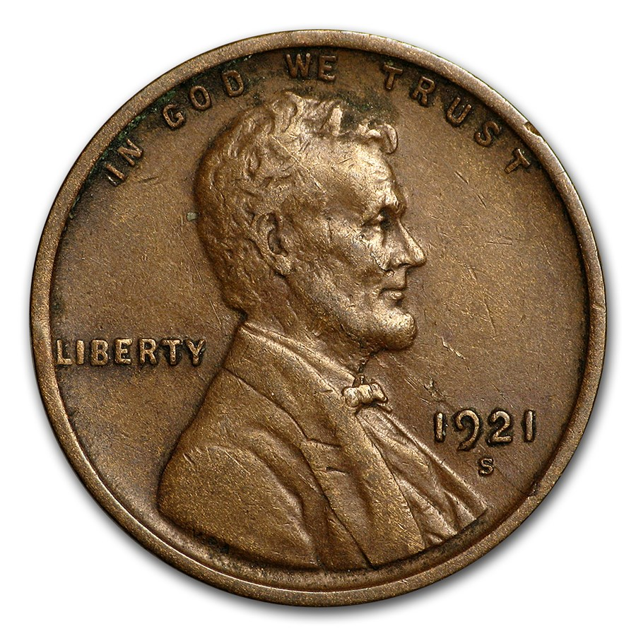 1921-S Lincoln Cent XF