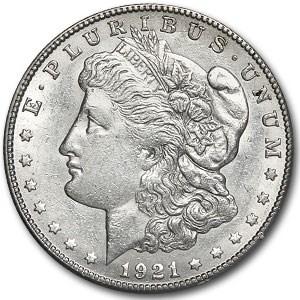 1921-S Morgan Dollar MS-60 (VAM-6B, Die Scratch, No S, Cleaned)