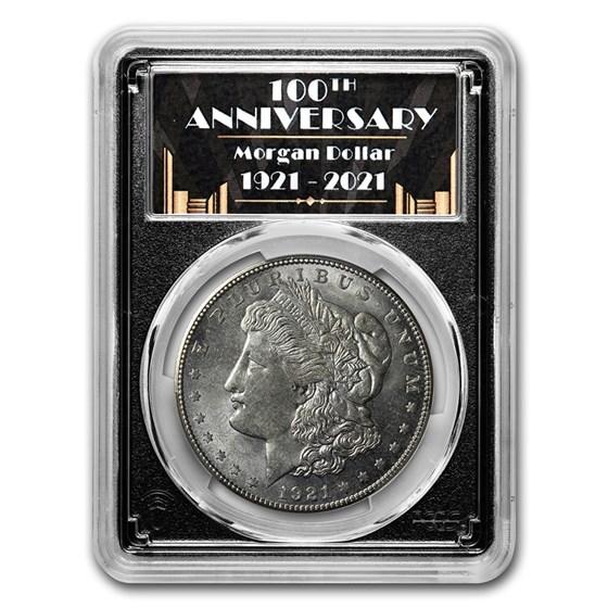 1921-S Morgan Dollar MS-63 PCGS (100th Anniversary Label)