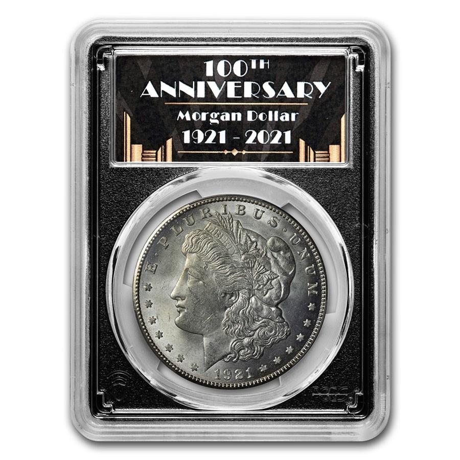 1921-S Morgan Dollar MS-64 PCGS (100th Anniversary Label)
