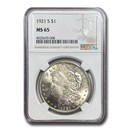 1921-S Morgan Dollar MS-65 NGC