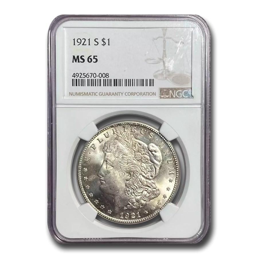 1921-S Morgan Dollar MS-65 NGC