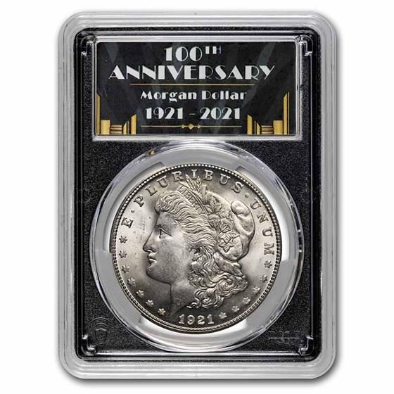 1921-S Morgan Dollar MS-65 PCGS (100th Anniversary Label)
