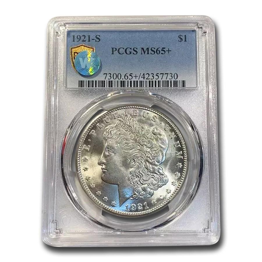 1921-S Morgan Dollar MS-65+ PCGS