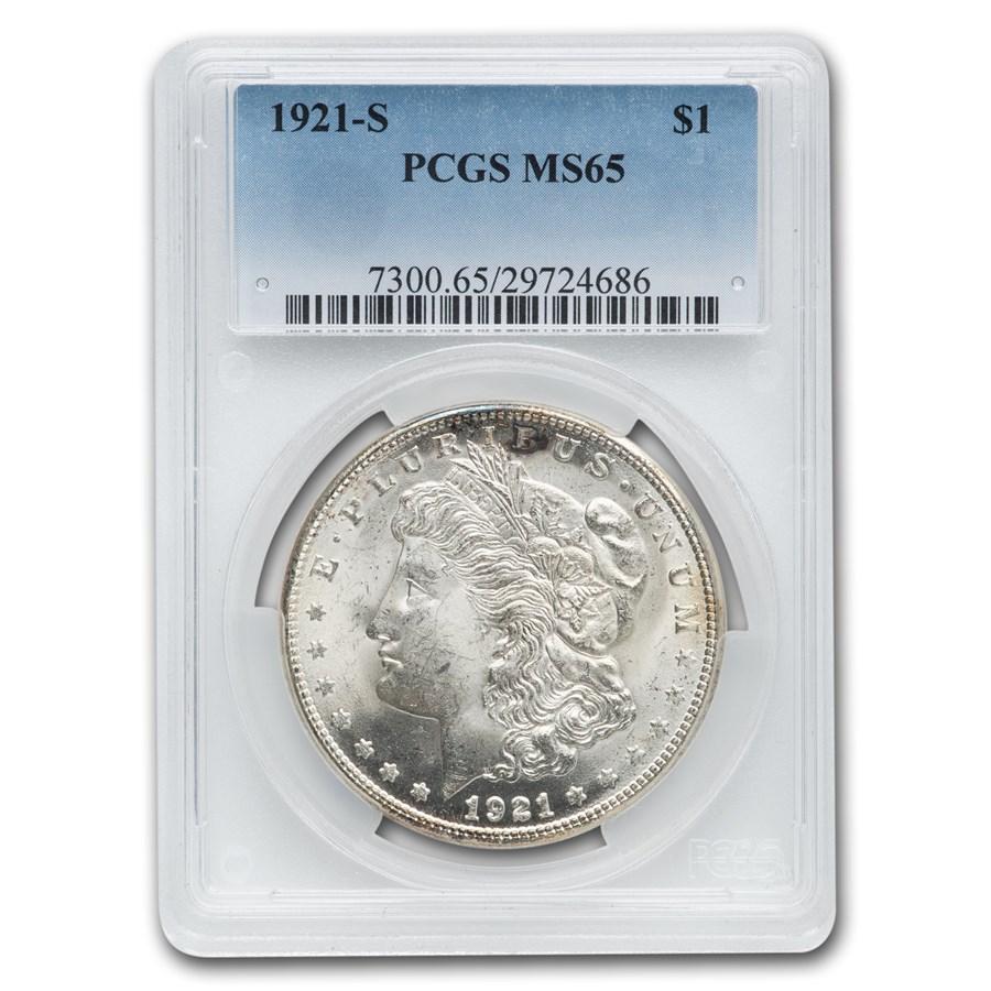 1921-S Morgan Dollar MS-65 PCGS