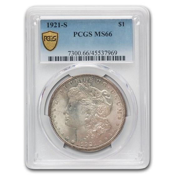 1921-S Morgan Dollar MS-66 PCGS