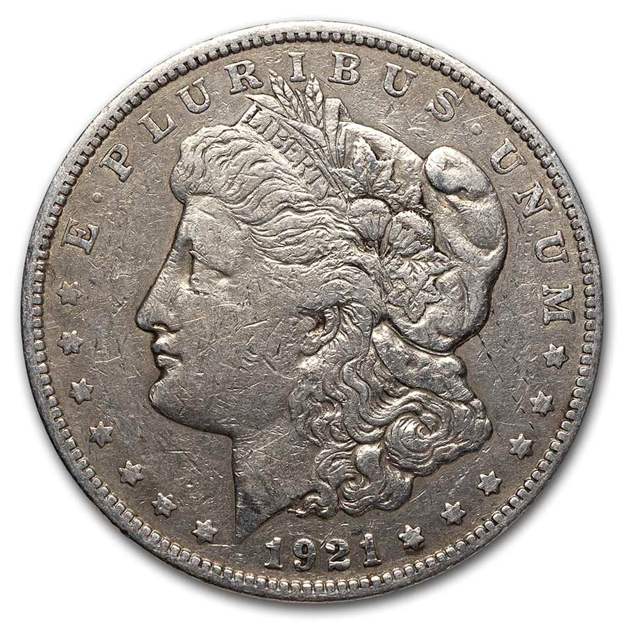 1921-S Morgan Silver Dollar VG-XF