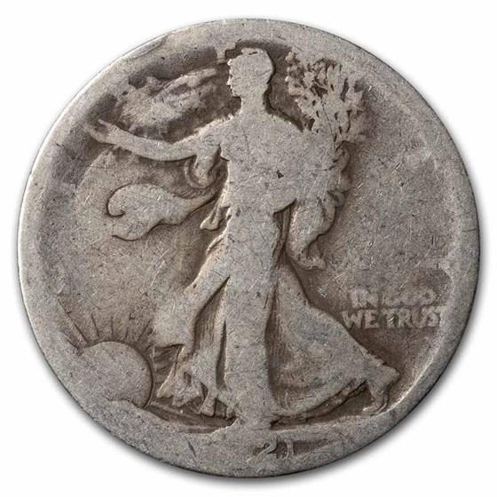 1921-S Walking Liberty Half Dollar AG
