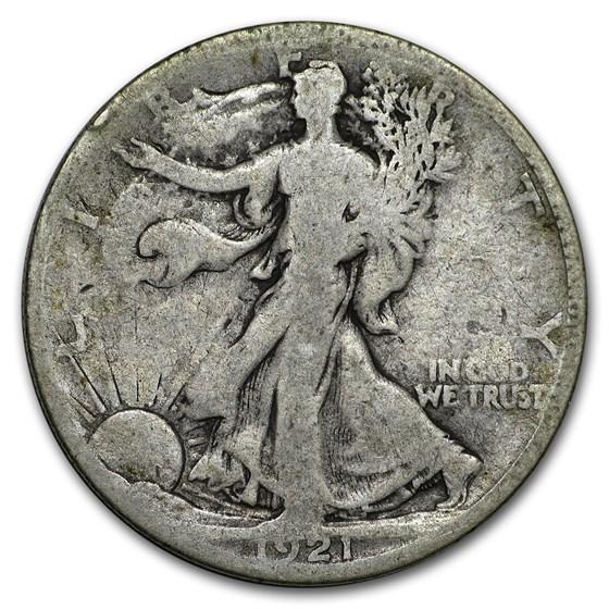 1921-S Walking Liberty Half Dollar Good