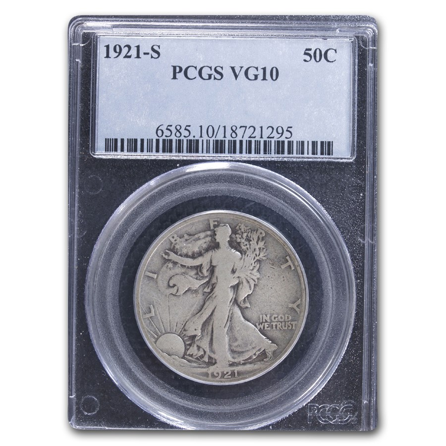 1921-S Walking Liberty Half Dollar VG-10 PCGS