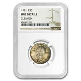1921 Standing Liberty Quarter Unc Details NGC (Cleaned)