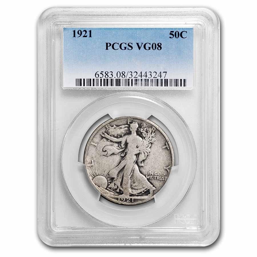 1921 Walking Liberty Half Dollar VG-8 PCGS