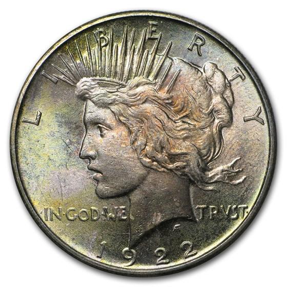 1922-1925 Peace Dollar BU (Beautifully Toned)