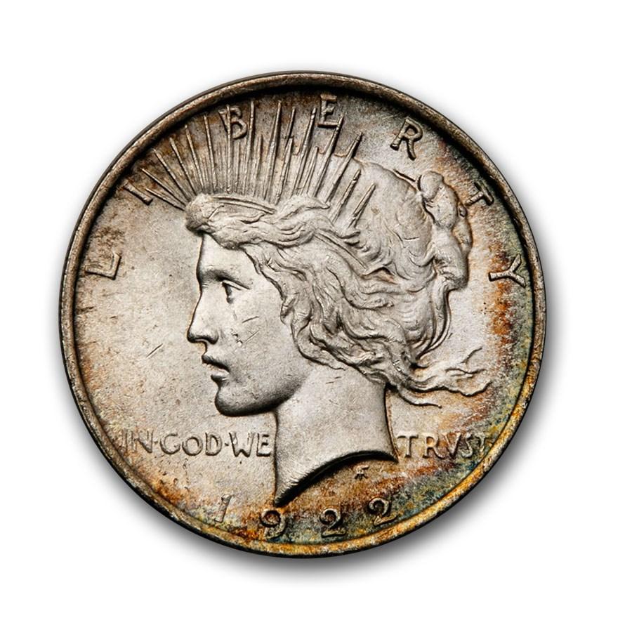 1922-1925 Peace Dollar BU (Originally Toned)